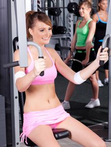 Free Portrait Of Young Female Exercising Stock Photos - 20923133
