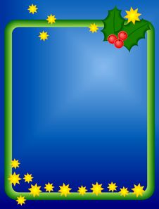 Free Christmas Background, Shiny Stars, Holy Berries Stock Photography - 20923202