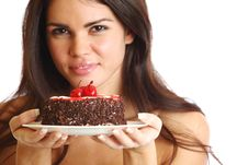 Free Woman And Cake Royalty Free Stock Photos - 20923848