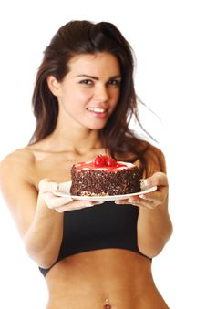 Free Woman And Cake Stock Images - 20923854