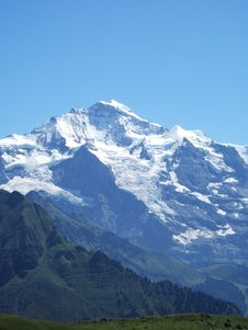 Jungfrau From Schynige Platte Royalty Free Stock Images