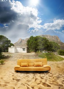 Free Abandoned Place And Sofa Stock Images - 20924314