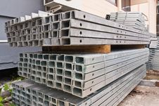 Metal Girder In Group Tilted Out Royalty Free Stock Photo