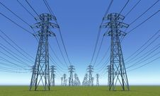 Free Power Line Royalty Free Stock Photos - 20924518