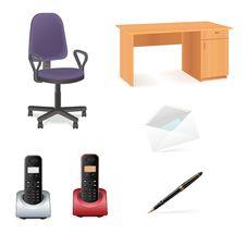 Free Office Icon Set Stock Photos - 20924773