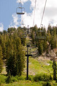 Summer Ski Lift II Royalty Free Stock Photography