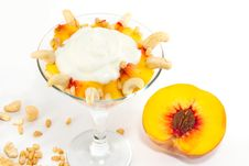 Dessert With Peaches Royalty Free Stock Images