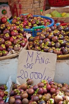 Free Mangosteens In The Market Stock Photos - 20925683