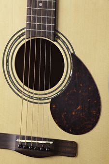 Guitar Acoustic Body Close Up Stock Image