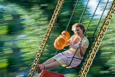 Free Beautiful Young Women Swinging Royalty Free Stock Photography - 20925847