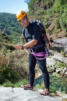 Free Men Descending Waterfall Stock Photography - 20926312