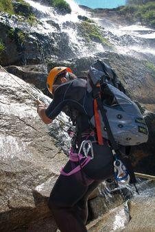 Free Men Descending Waterfall Stock Images - 20926334