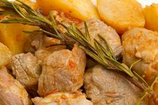 Meat Stew With Potato Royalty Free Stock Photo