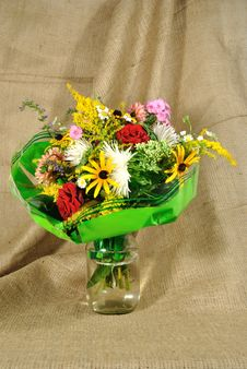 Free The Autumn Bouquet Of Wild And Cultivated Flowers Stock Photography - 20926982