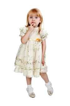 Free Little Girl In Studio Royalty Free Stock Photos - 20928158