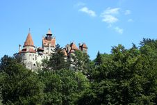 View Of The Famous Bran Castle Stock Photography