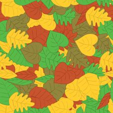 Free Autumn Leafs Seamless Pattern Stock Image - 20928911
