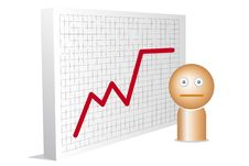 Free Worried Man And With Chart Royalty Free Stock Photo - 20929145