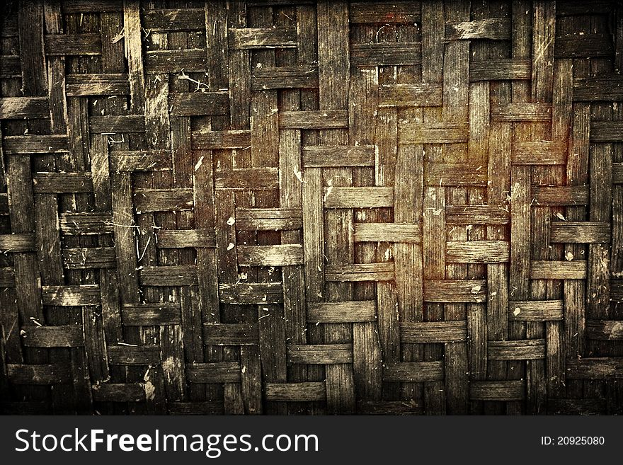 The old bamboo texture