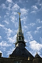 Free Mont Sain Michel Steeple With St. Michel Statue Stock Photo - 20930260