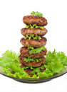Free Cutlets On Salad Leaves Stock Photography - 20932472