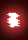 Free Red Broken Wall Stock Images - 20937764