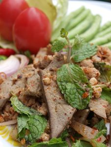 Thai Spicy Food (lab) Royalty Free Stock Photo