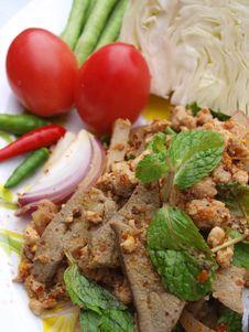 Thai Spicy Food (lab) Stock Image