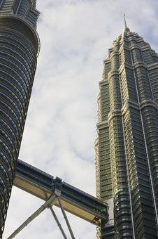 Twin Towers In Kuala Lumpur Stock Image