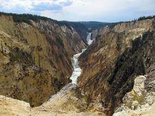 Free Beautiful Waterfall In Wyoming Royalty Free Stock Image - 20931246
