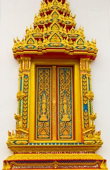 Free Window In Thai Temple Royalty Free Stock Photos - 20931488