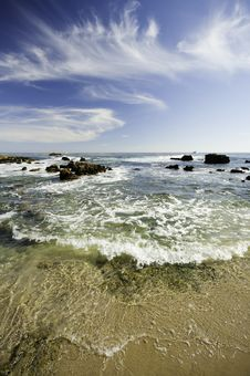 Free Beach And Waves Royalty Free Stock Images - 20931699