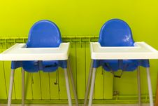 Free Blue High Chairs Royalty Free Stock Photos - 20931908