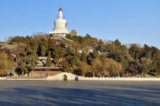 View Of Beijing Skyline,Beihai Park, Royalty Free Stock Photos