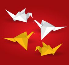 Free Origami Birds Royalty Free Stock Photos - 20932028