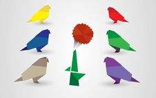 Free Origami Birds Royalty Free Stock Images - 20932059