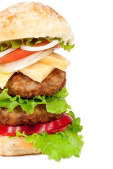 Free Big Hamburger Royalty Free Stock Image - 20932446