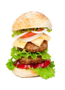 Free Big Hamburger Royalty Free Stock Photo - 20932505