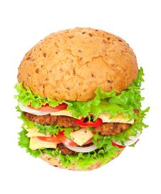 Free Big Hamburger Royalty Free Stock Photos - 20932548