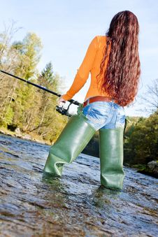 Free Fishing Woman Stock Photography - 20933562