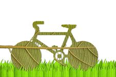 Free Pushbike From Green Leave Stock Photo - 20933750