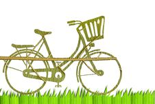 Free Pushbike From Green Leave Royalty Free Stock Photos - 20933818