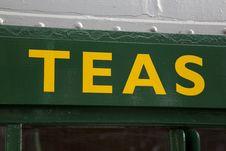 Free Tea Sign Royalty Free Stock Photo - 20934605