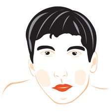 Free Drawing Of The Male Person On White Stock Photography - 20934612