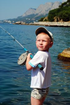 Fishing Boy Royalty Free Stock Photo