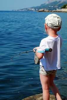 Free Boy Fishing Stock Photo - 20934650