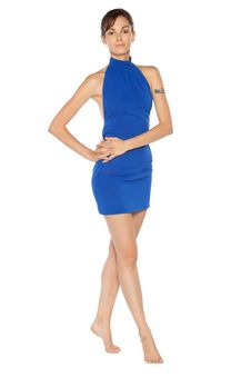 Free Female In Blue Dress Posing Royalty Free Stock Image - 20934776