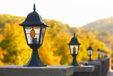 Free A Row Of Old-fashioned Streetlamps Stock Photo - 20934870