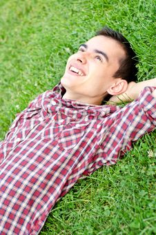 Free Relaxing Outdoors On The Grass Stock Photos - 20935423