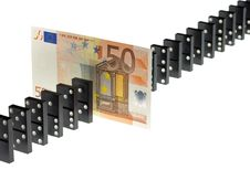 Free Euro And The Dominoes Stock Photography - 20935652